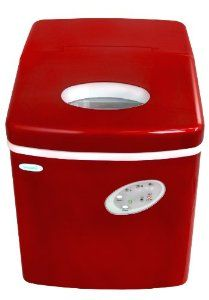 Amazon Com Newair Ai 100r 28 Pound Portable Icemaker Red