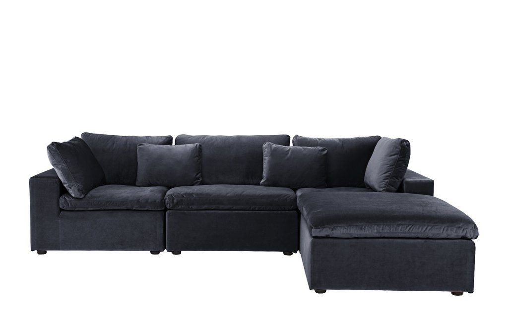 Low Profile Velvet Lounge Sofa