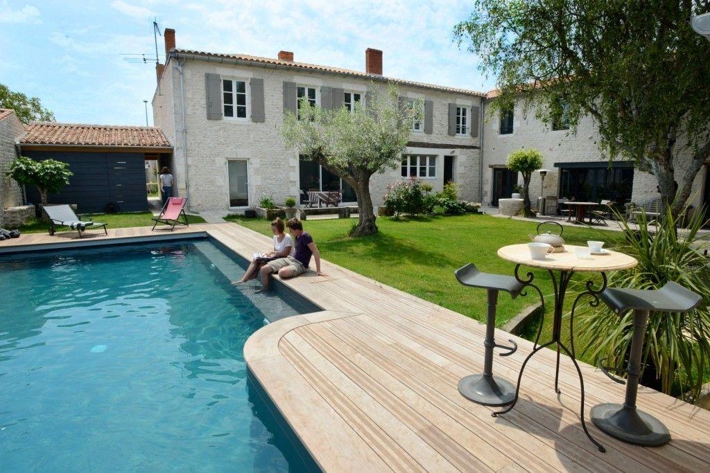 Demeure de charme avec piscine chauff e et sauna - Villa charente maritime avec piscine ...