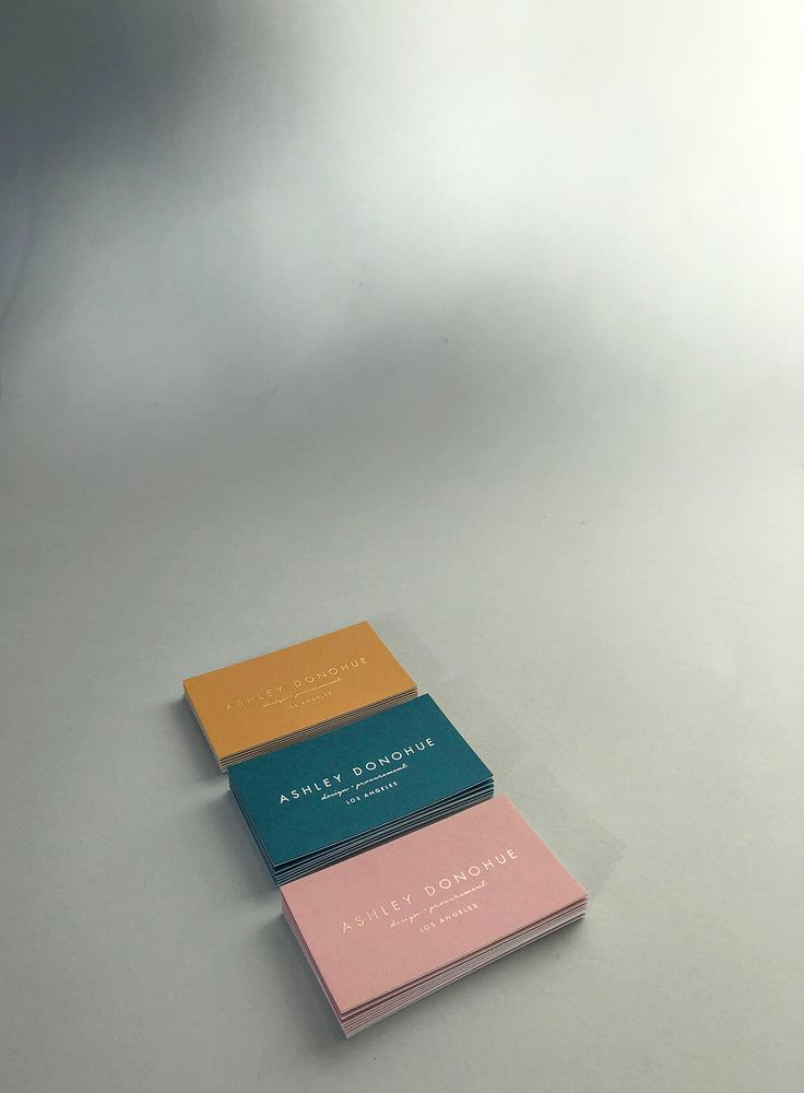 Presshaus LA x Ashley Donohue / trio of luxe business cards ...