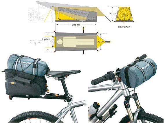 dadb90931f4 Tienda de campaña para bicicleta   Bicis con carga   Bicicletas ...