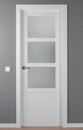 Puerta lacada blanca mod lac 5104 3v obra - Puertas blancas exterior ...
