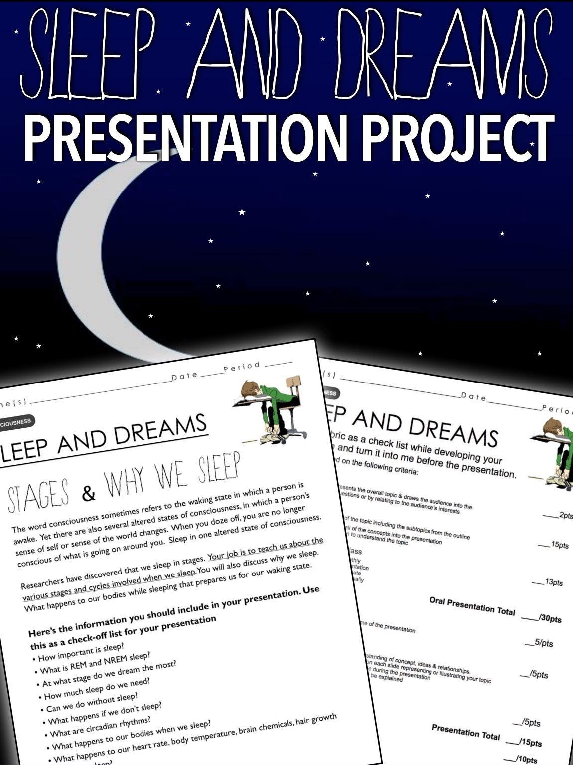Psychology Consciousness Sleep And Dreams Project Teaching Psychology Psychology Programs Psychology