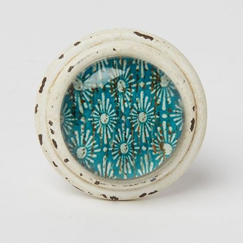 Bouton de meuble Essaouira cabochon - marine - 5,95u20ac Boutons - bouton de porte meuble salle de bain