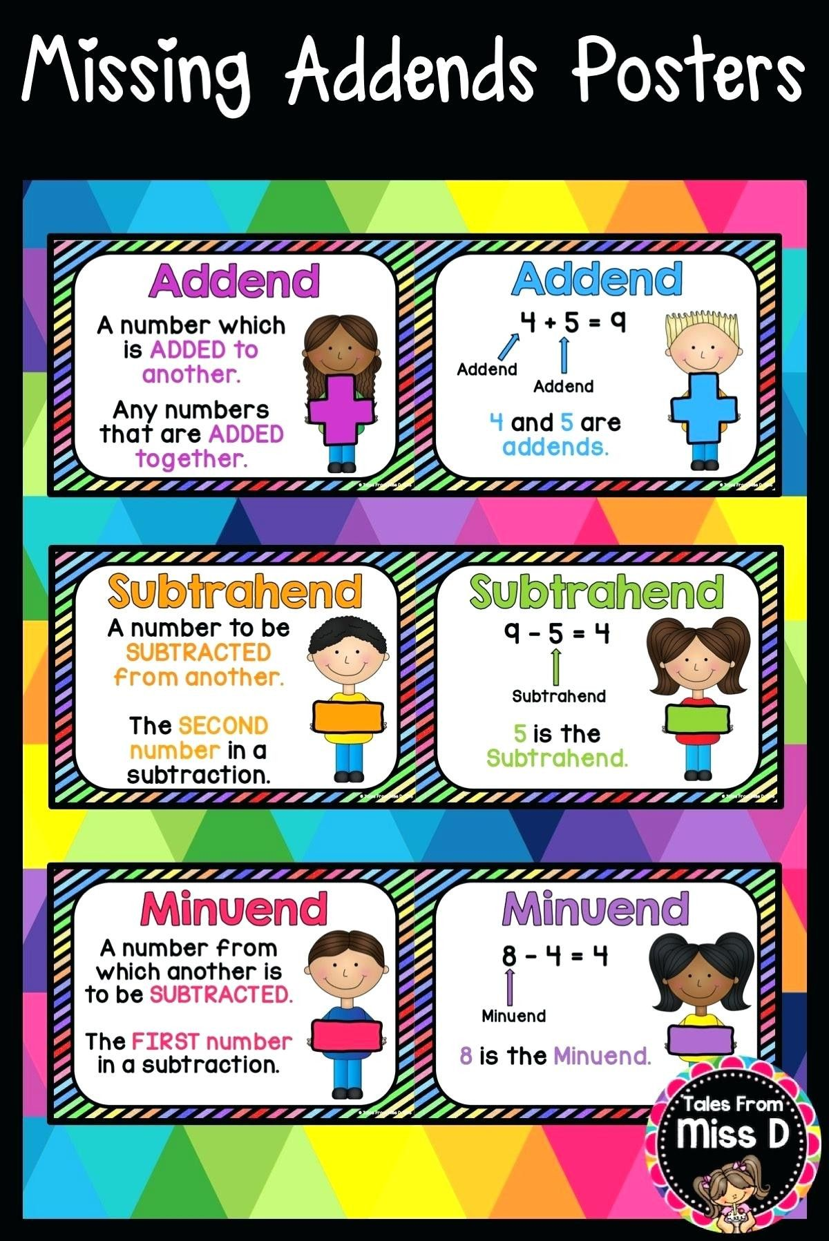5 Free Math Worksheets First Grade 1 Addition Missing