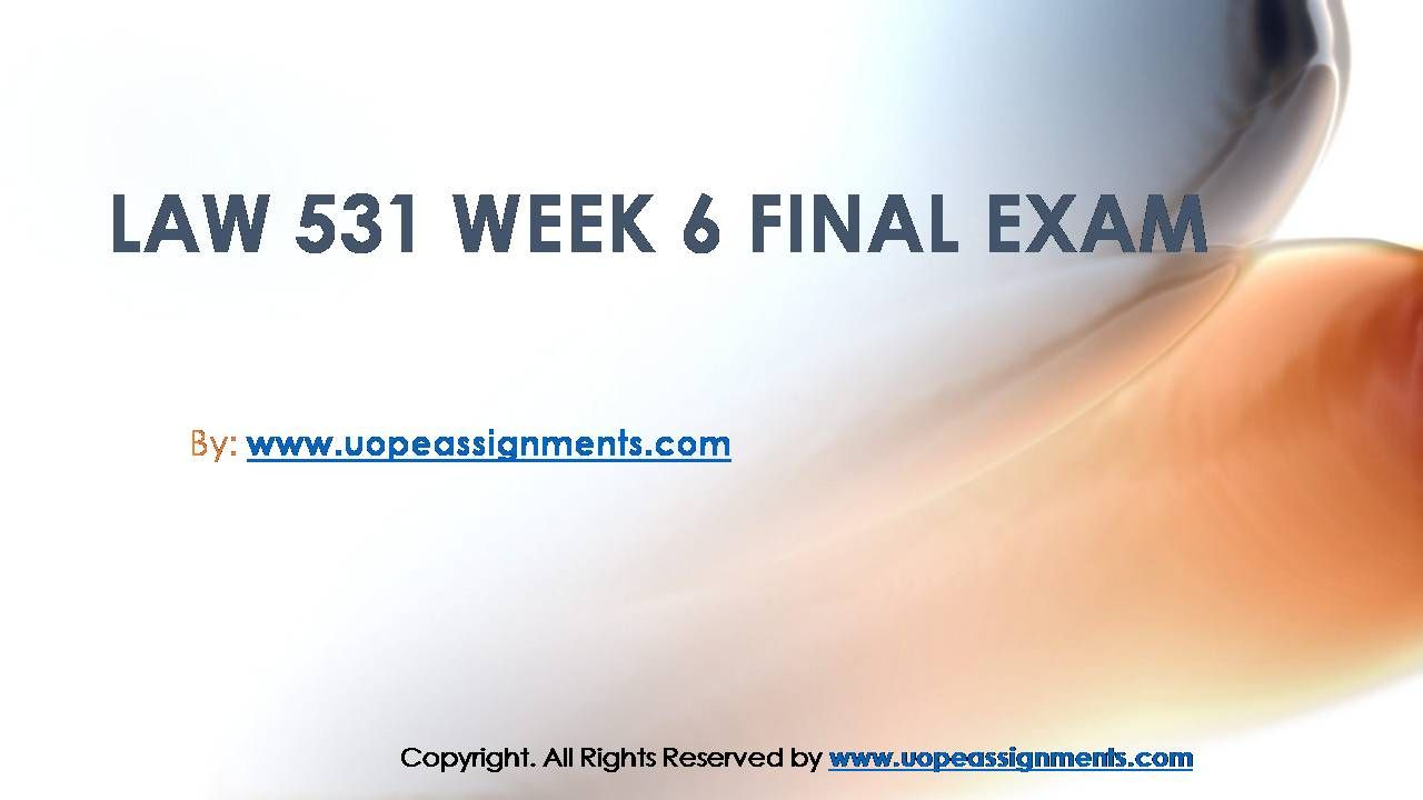 answer key week 6 final quiz ldr 531 Ldr 531 final exam (30 questions - latest) ldr/531 final exam 1 job dissatisfaction and antagonistic relationships with coworkers predict a variety of behaviors organizations find undesirable, including unionization attempts, substance abuse, undue socializing, and tardiness.