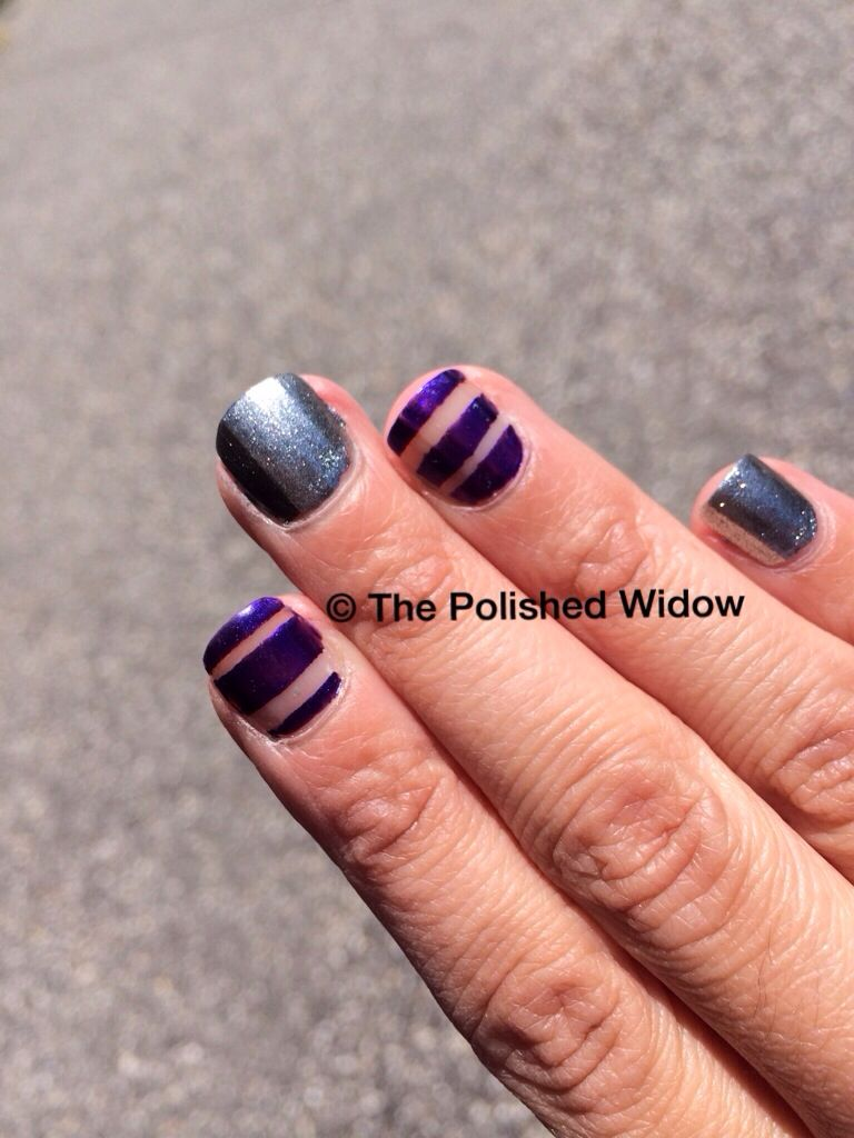 Negative Nail Art Design Using Nail Stickers And Opi Havent The