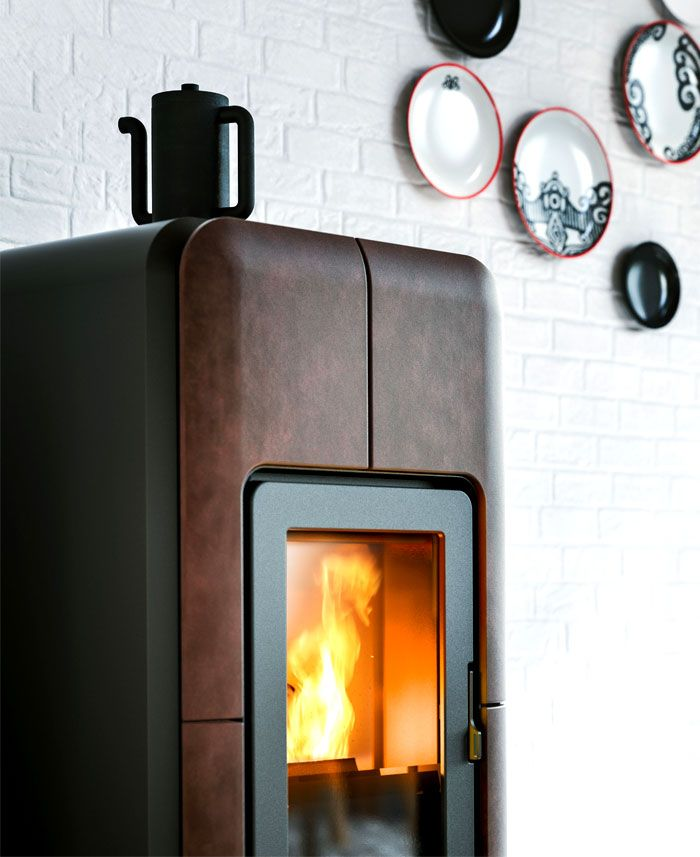 New Collection Of Scandinavian Inspired Stoves By Mcz Wood Stove Pellet Stove Scandinavian Home Interiors