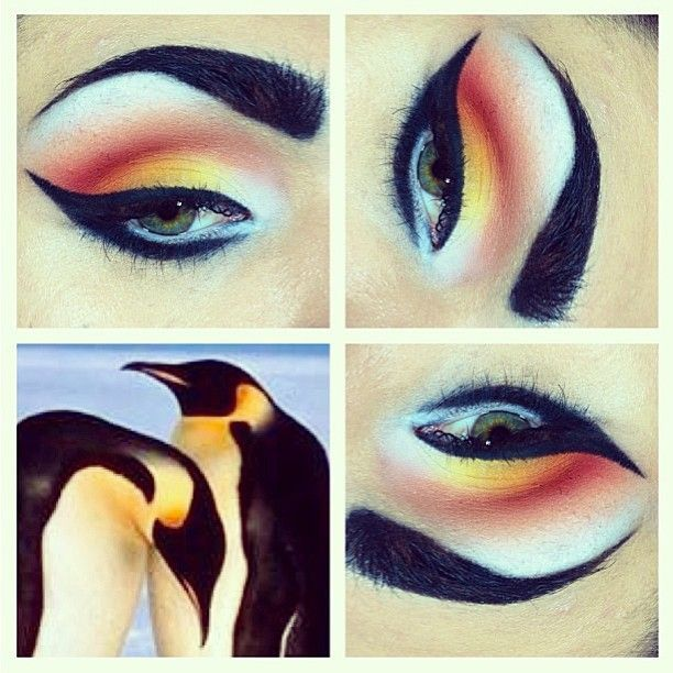 Penguin inspired makeup