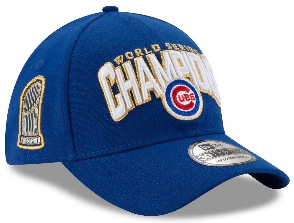8fff0b7b9ae New Era Men s 2016 World Series Champions 39Thirty Locker Room Chicago Cubs  Royal Flex Fit Hat