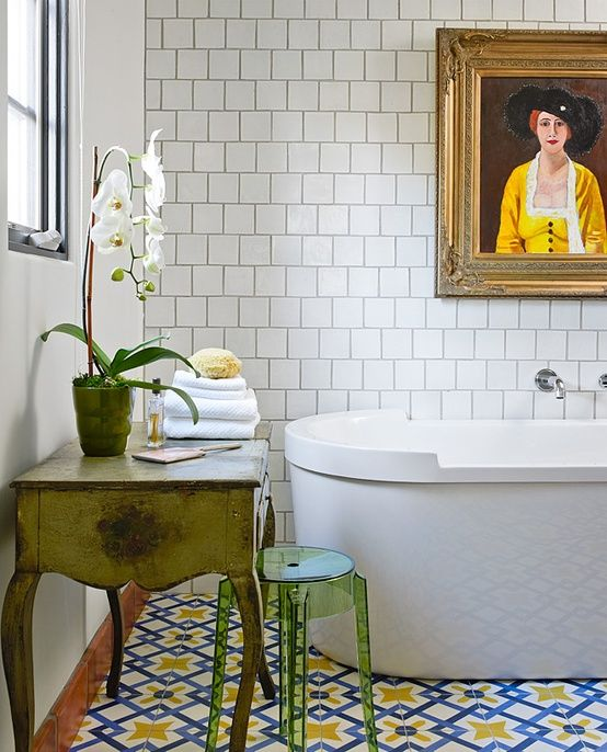 Home garden inspirations d co salles de bain r tro for Deco salle de bain retro