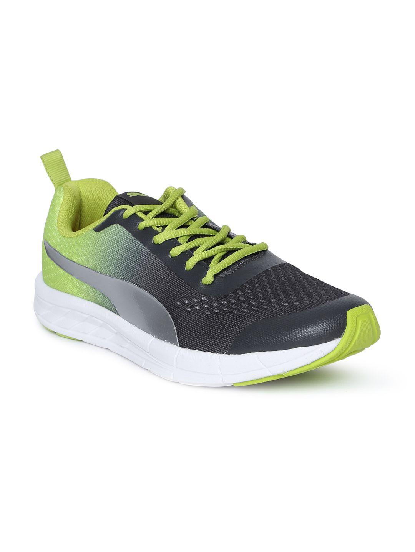 Buy Puma Unisex Black \u0026 Lime Green