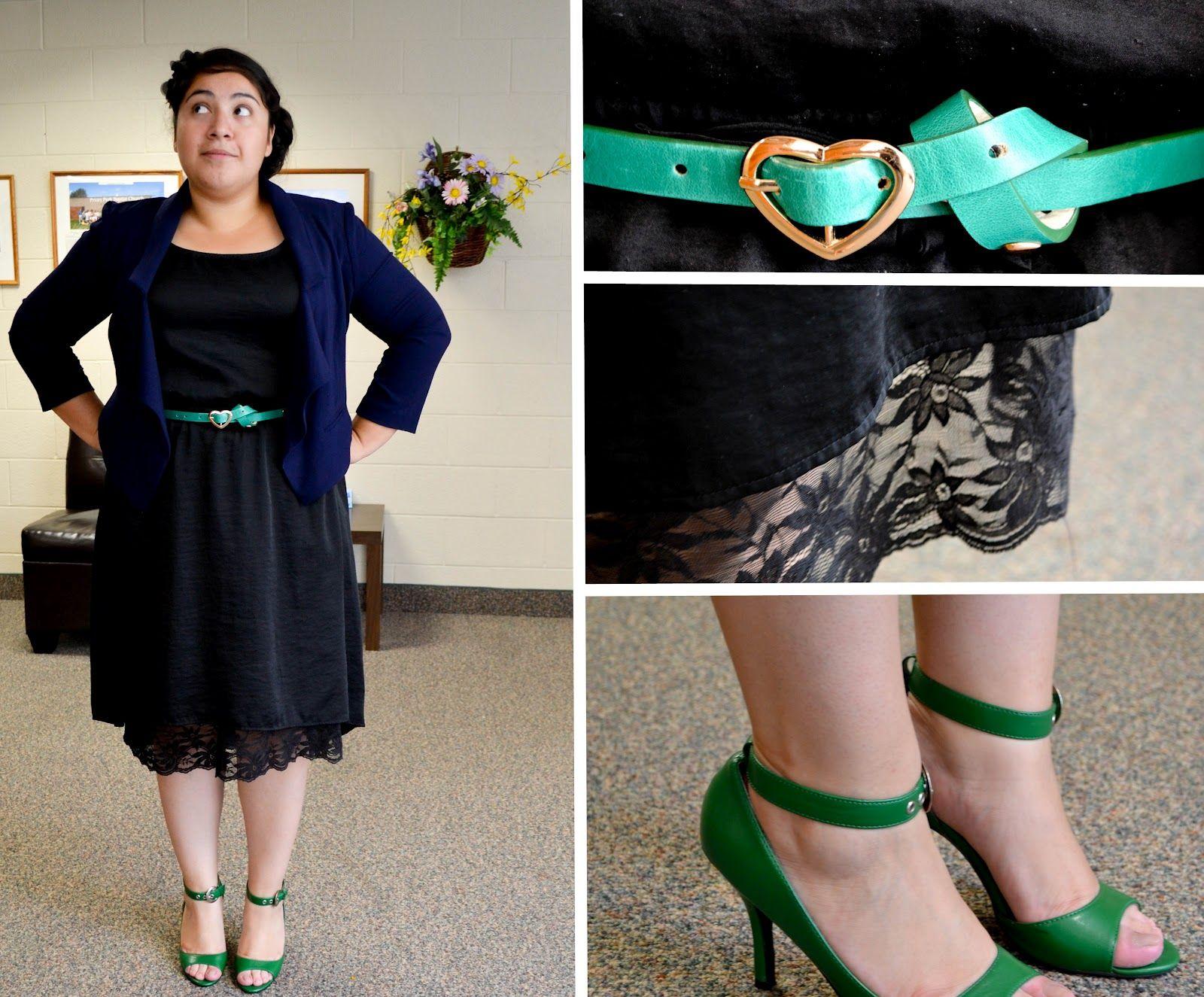 Black dress navy blazer green my best dresses pinterest