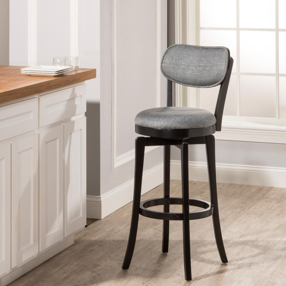 Hillsdale Furniture Sloan 25 In Swivel Counter Stool In Black 4037 827 The Home Depot In 2021 Swivel Bar Stools Bar Stools Swivel Counter Stools