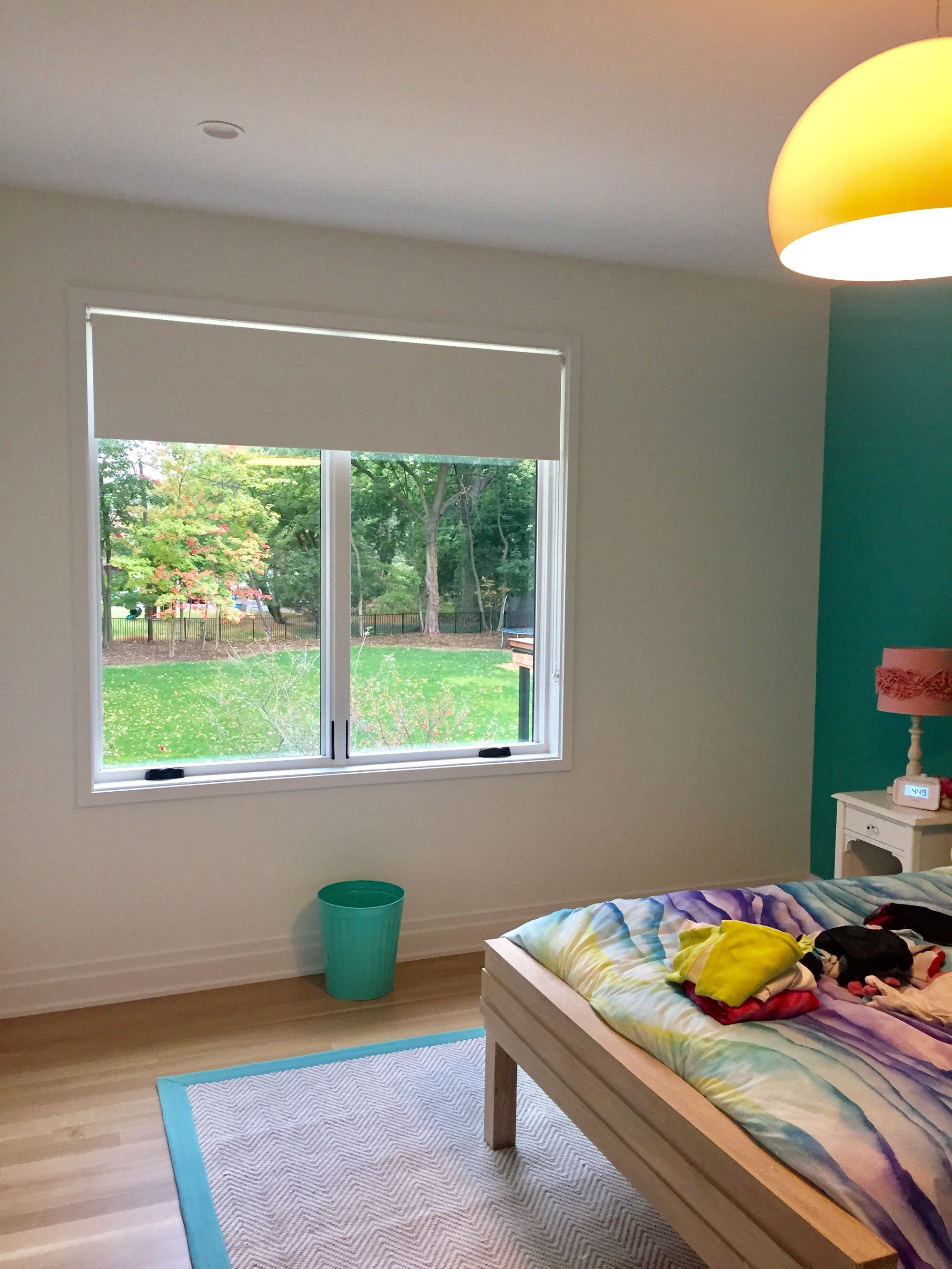 Motorized blackout roller shades are safe, easy to operate