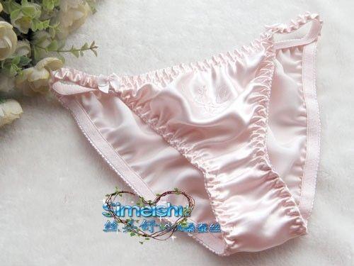 b2f685c8eef2 6PCS Sexy Women's 100% Silk String Bikini Panties M L XL XXL XXXL (W24