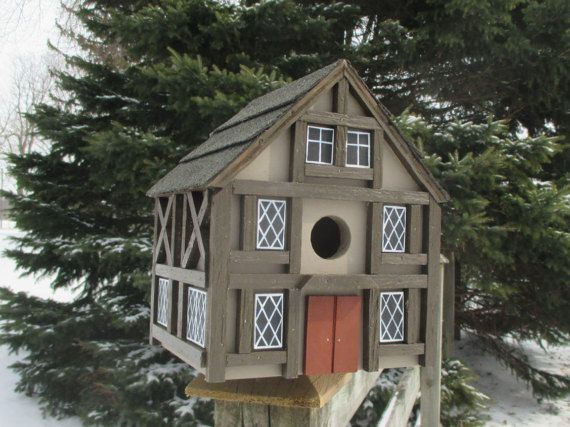 Medieval Birdhouse Tudor Bird House Handmade Birdhouse Outdoor Wood Birdhouse Country Birdhouse Unique Birdhouse Unique Bird Houses Bird Houses Bird House
