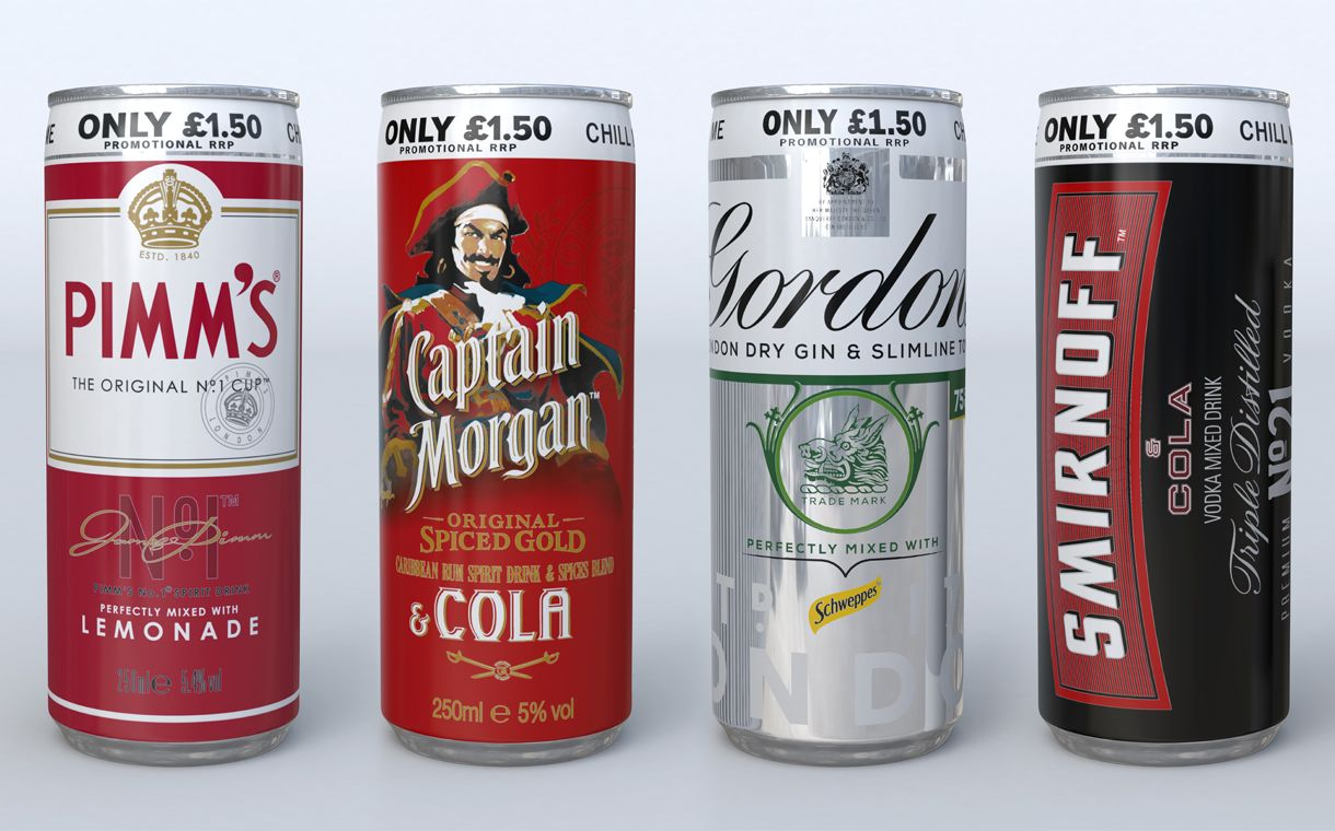 Diageo Overhauls Alcohol Pre Mix Portfolio With Price Marked Cans Alcohol Alcohol Packaging Design Alcohol Packaging