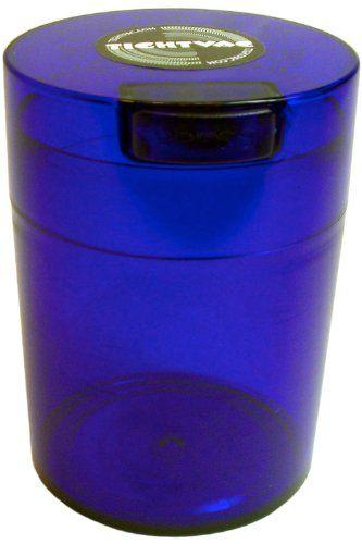 Tightvac Coffeevac 1 Pound Vacuum Sealed Storage Container Cobalt