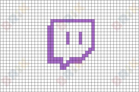 Twitch Pixel Logo Pixel Art Easy Pixel Art Pixel Art Pattern