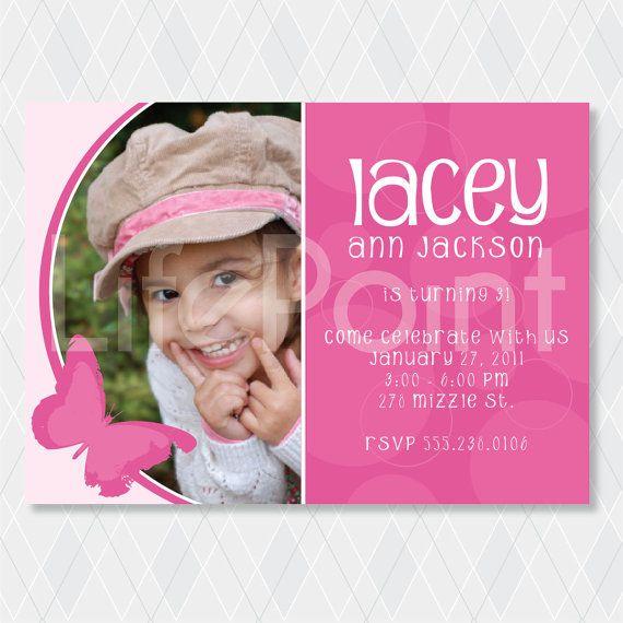 Birthday Girl Invitation Ready to Print by lifepointgraphics, $15.00