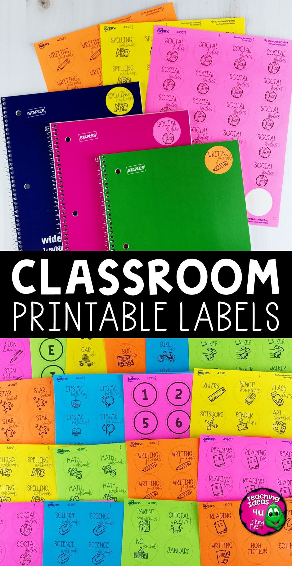 Classroom Label Templates For Avery Printable Stickers Classroom