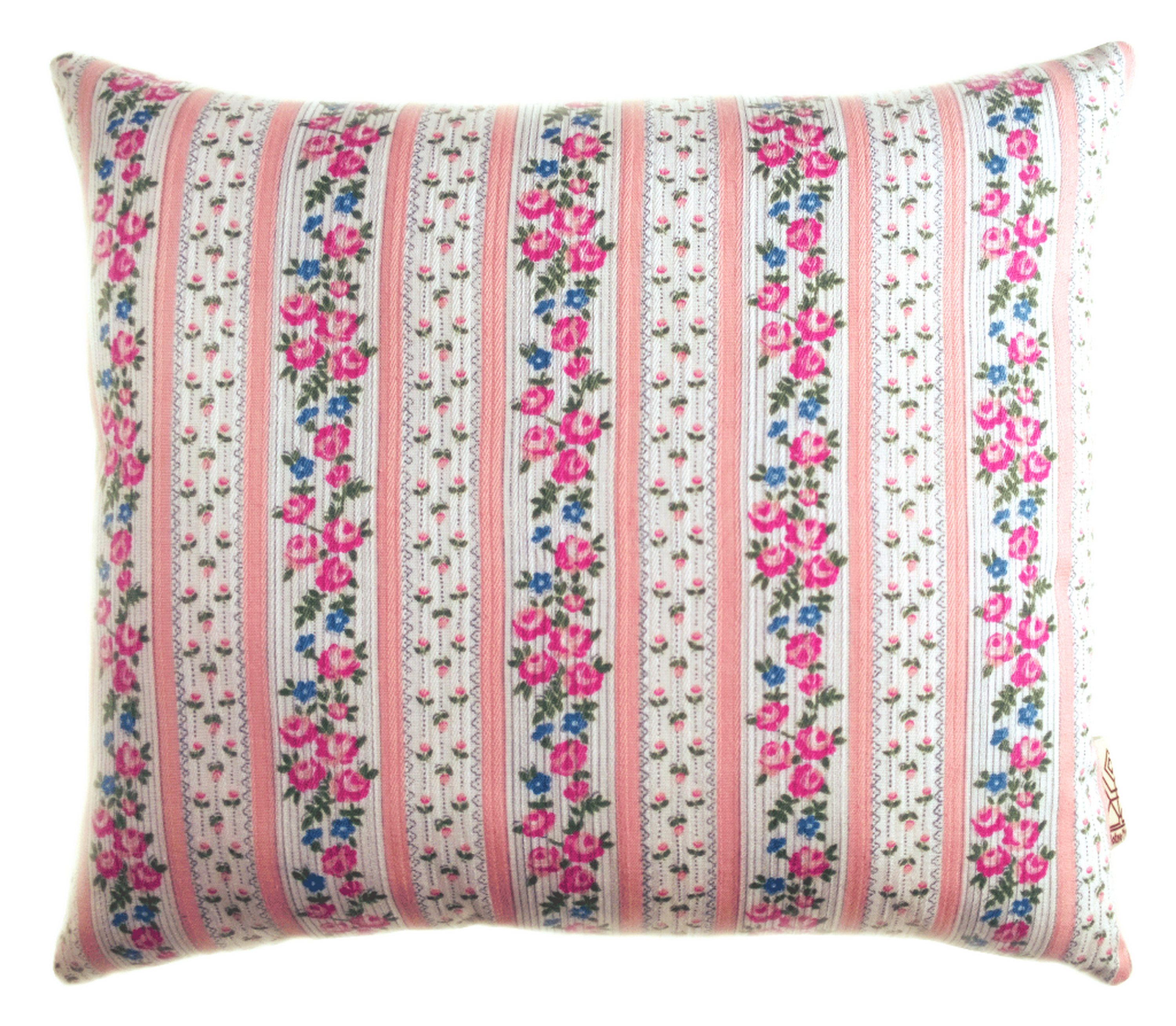Shabby Chic Pillow Pink Roses Pale Pink And White Striped Etsy Shabby Chic Pillows Chic Pillows Shabby Chic