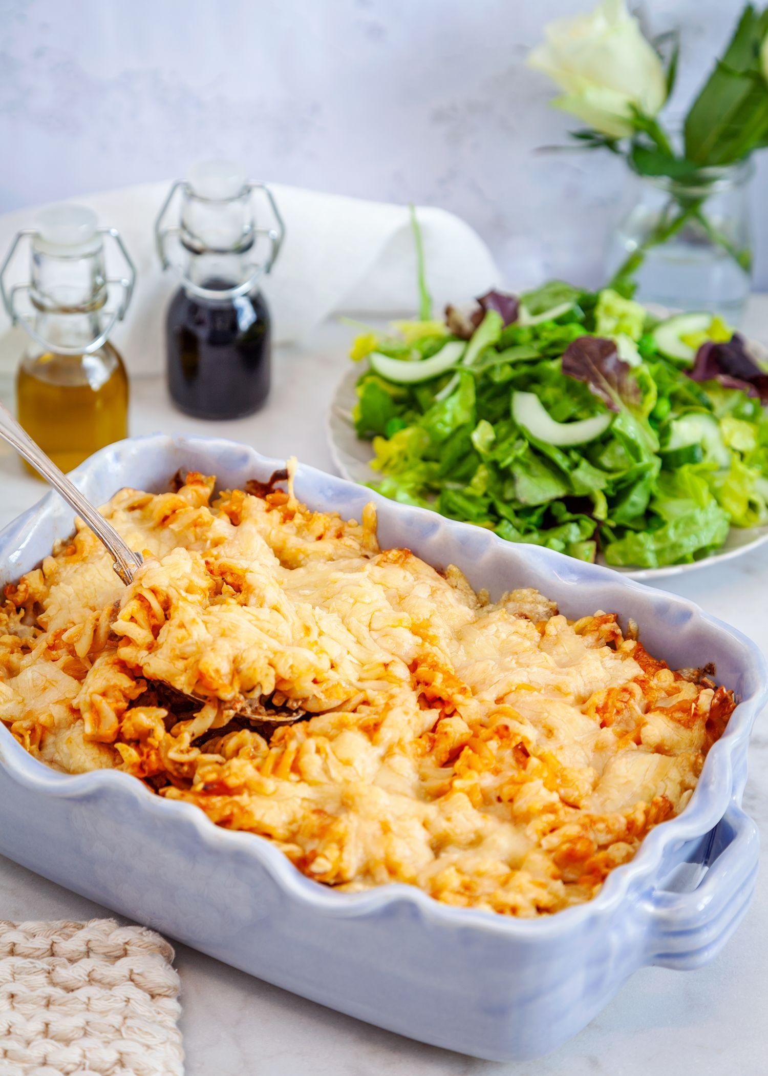 Snabb Pastagratang Med Fars Och Pesto Recept Med Bilder