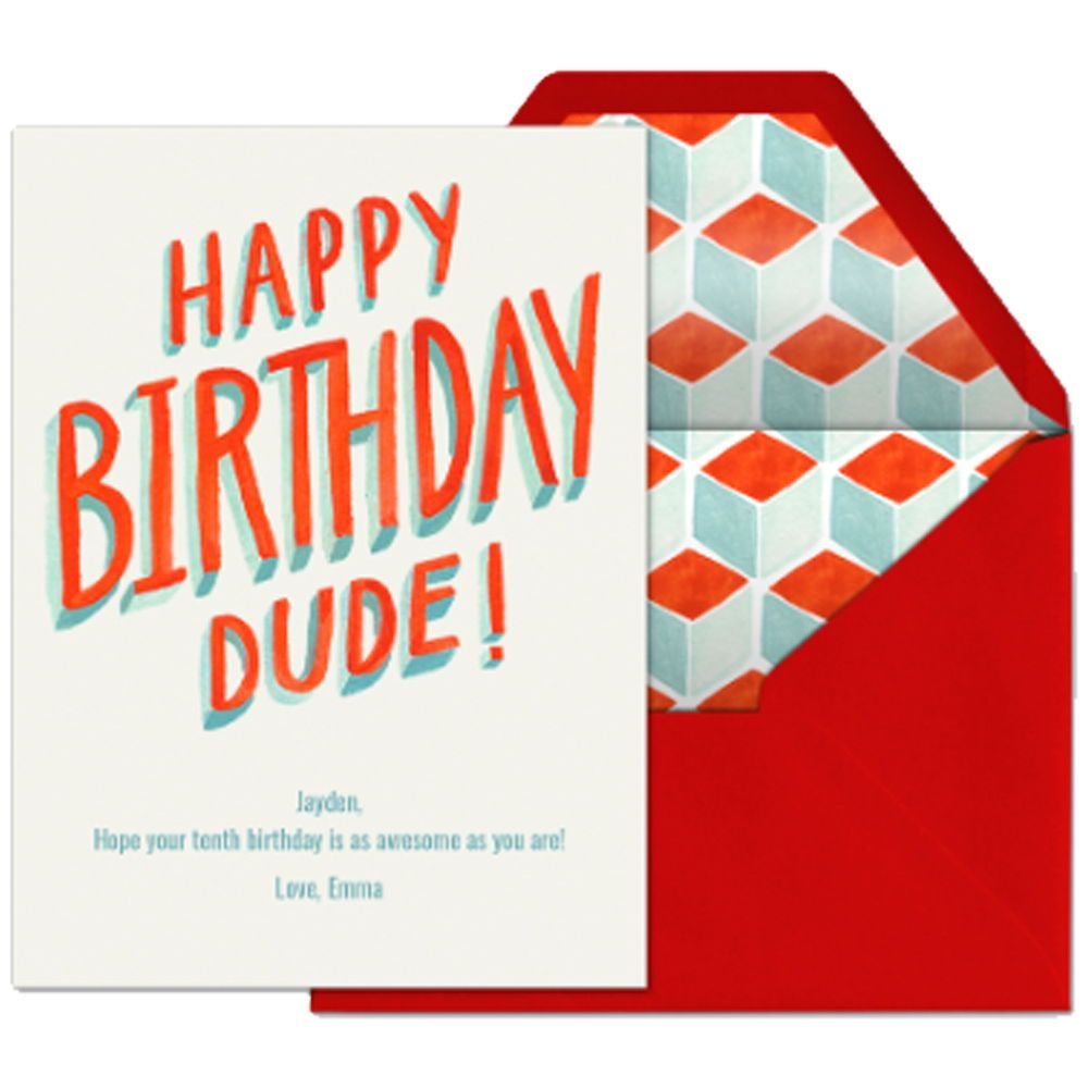 Hbd Dude Celebrate A Birthday With This Premium Evite Card