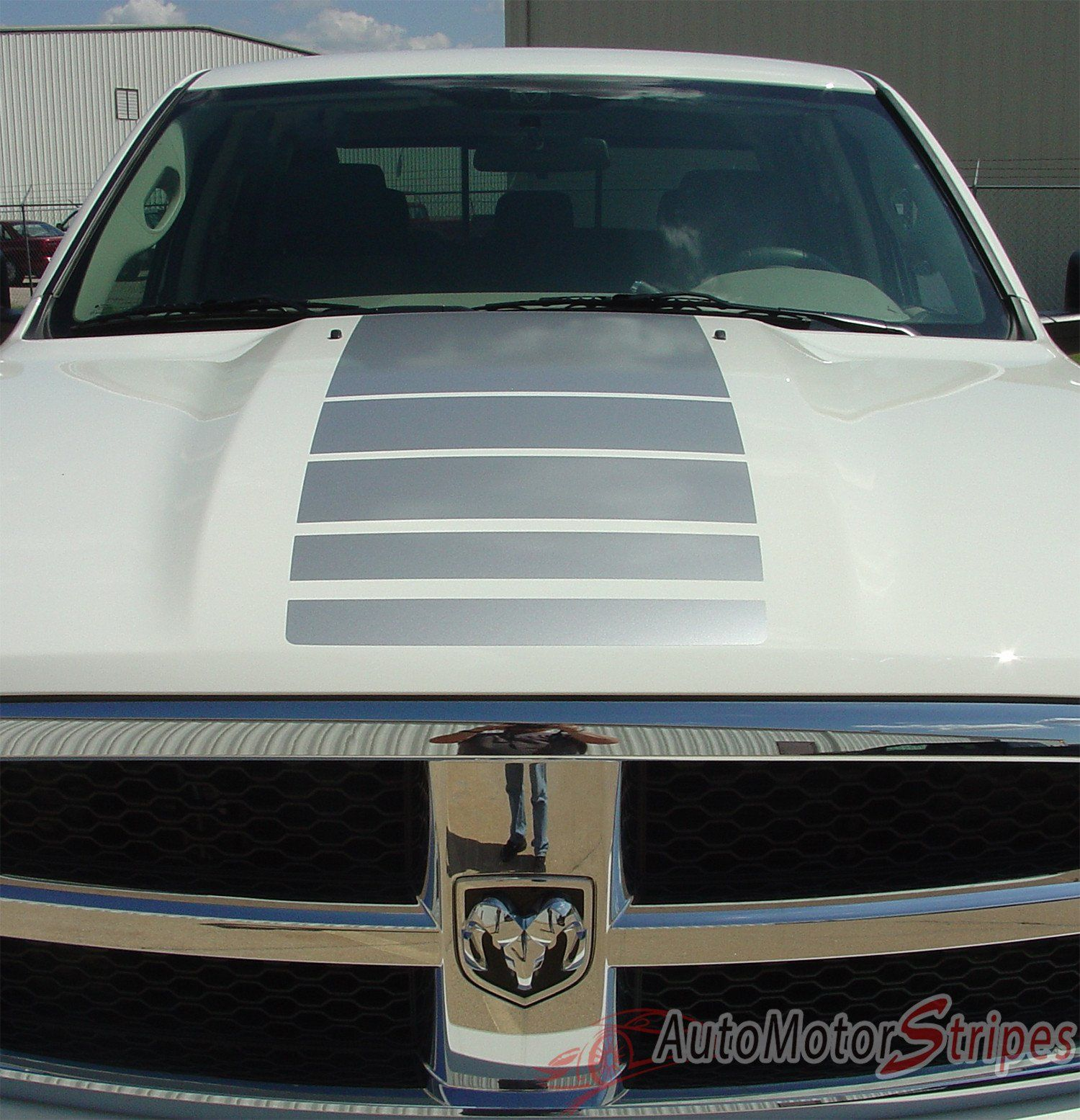 Dodge ram hood stripes truck power strobe decals and rear bed vinyl graphic stripe decal by ams fits years 2009 2010 2011 2012 2013 2014 2015 2016 2017