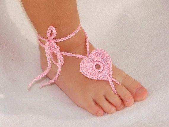 2 pares de sandalias bebé corazón descalzo pie decoración pie