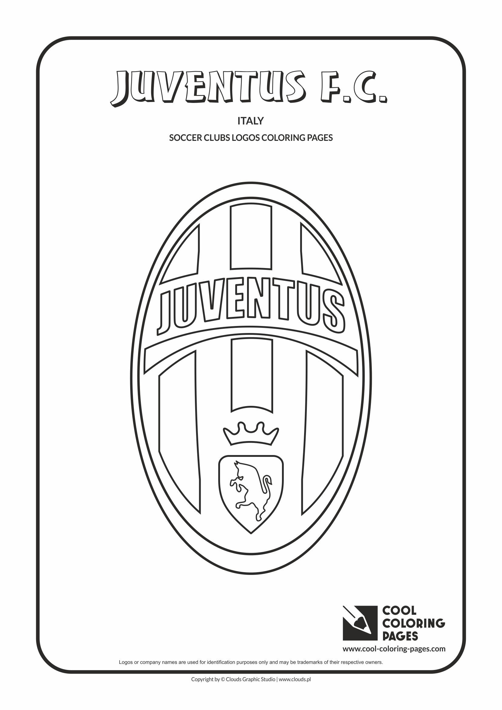 Cool Coloring Pages Soccer Clubs Logos Juventus F C Logo