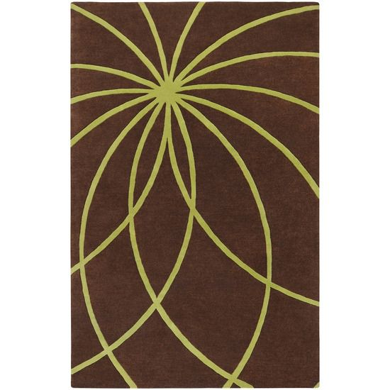the perfect chocolate and green rug