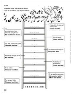 That's Entertainment Word Ladder (Grades 4-6