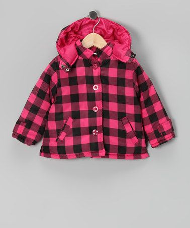 Take a look at this Baby Togs Pink & Black Plaid Coat - Infant by Mad for Plaid: Kids' Apparel & Shoes on #zulily today!
