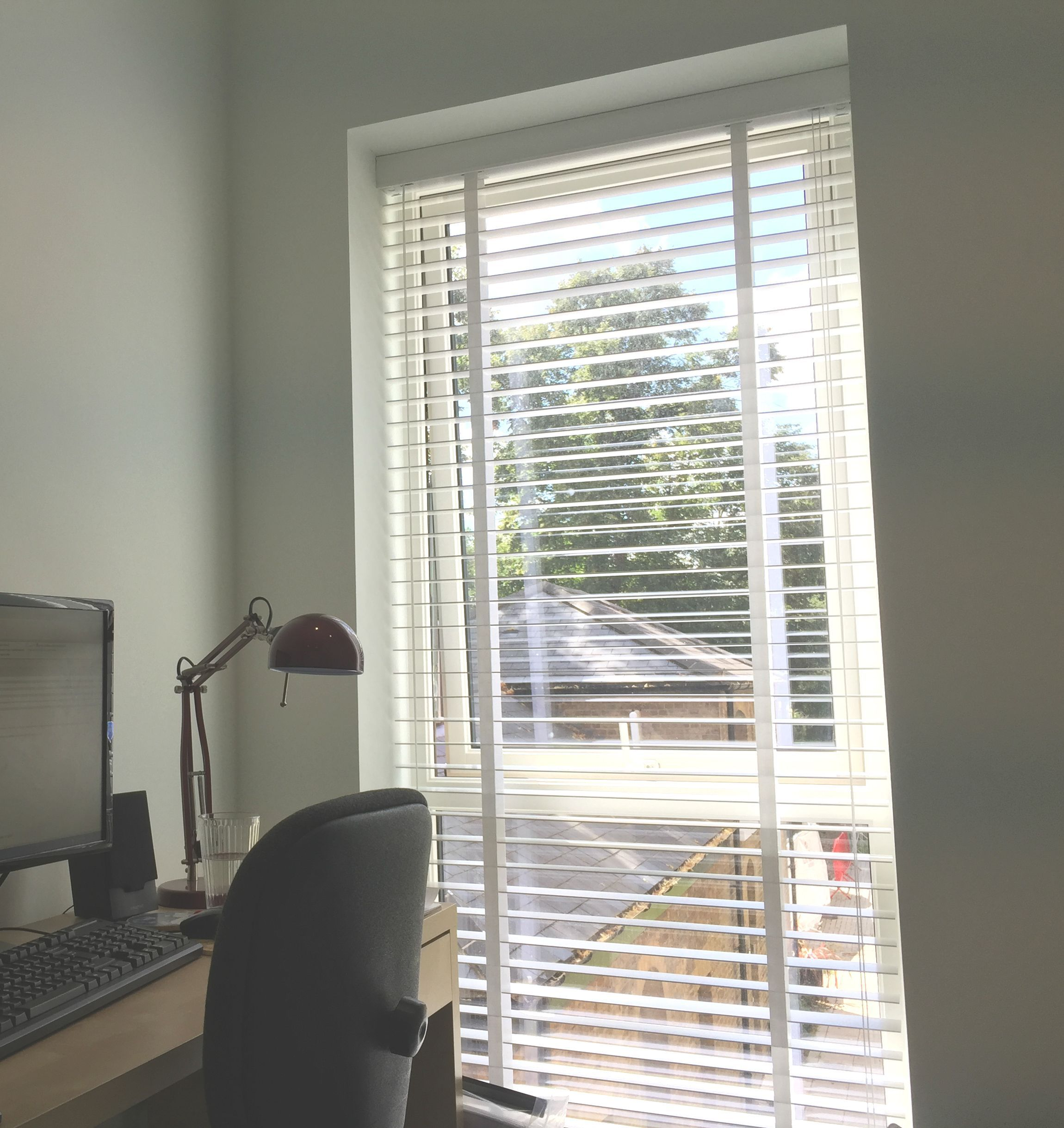 Wood Venetian Blind Pure White Blind For Home Office Study New