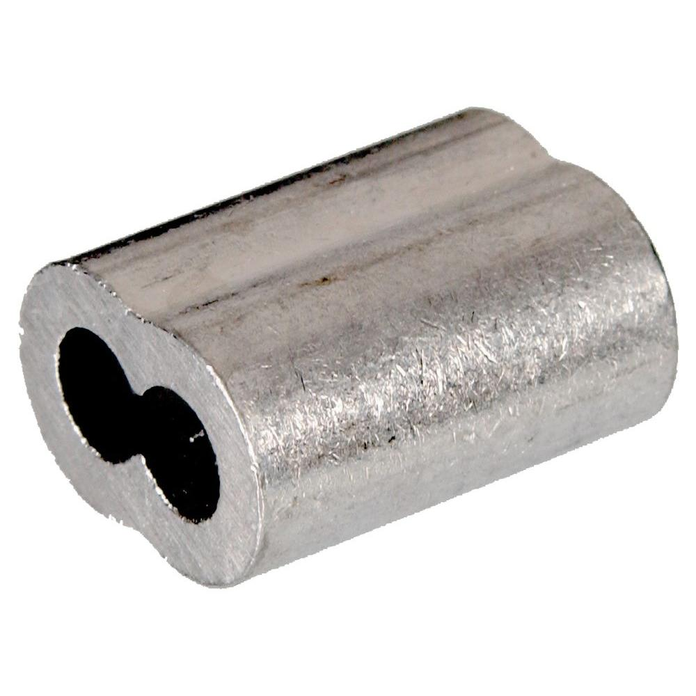 Hardware Essentials 1 8 In Cable Ferrule In Aluminum 50 Pack 322220 0 The Home Depot Hardware Aluminum Uses Stainless Steel Cable