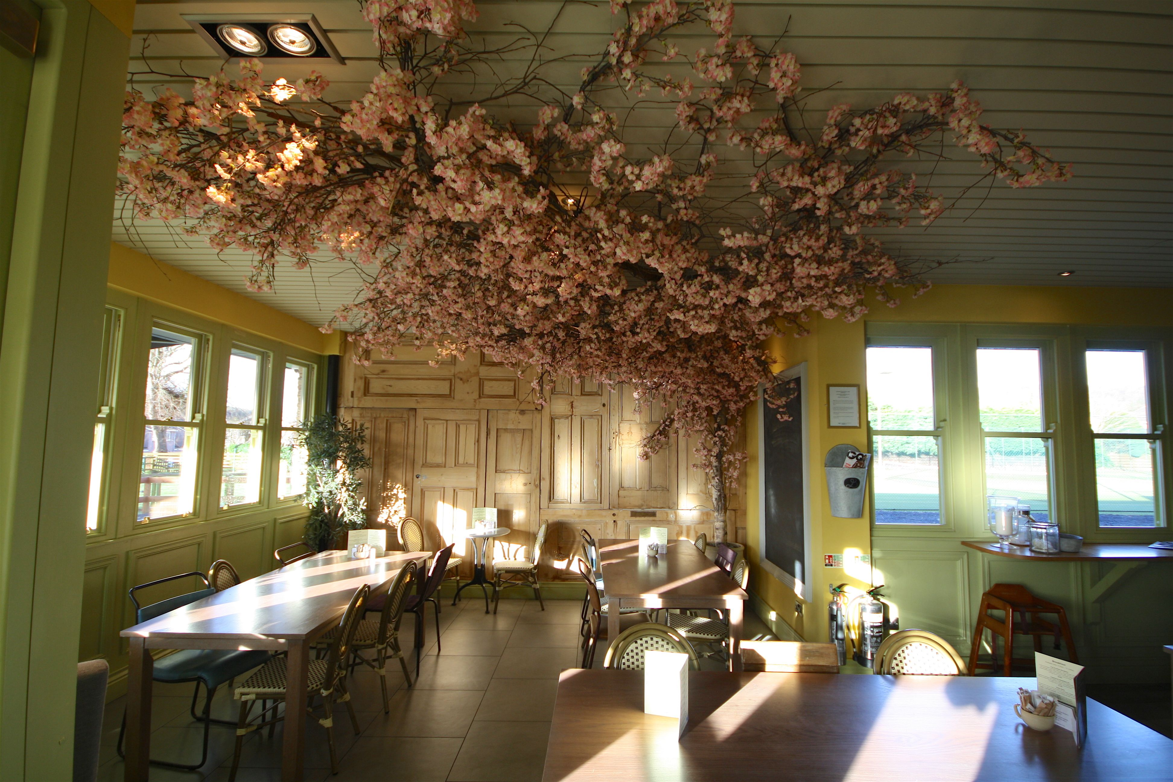 Artificial Pink Blossom Tree Was Design And Built For Restaurant Bar Area At Louis Brown Dalgety Pink Blossom Tree Blossom Trees Artificial Cherry Blossom Tree