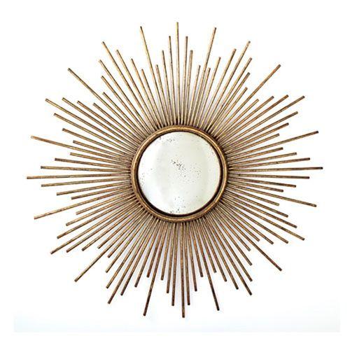 Sunburst Antiqued Gold Wall Mirror http://rstyle.me/byrenu9dv