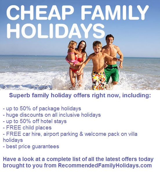I've trawled the internet & come up with a great list for you. http://www.recommendedfamilyholidays.com/articles/family-holiday-deals-2016.html