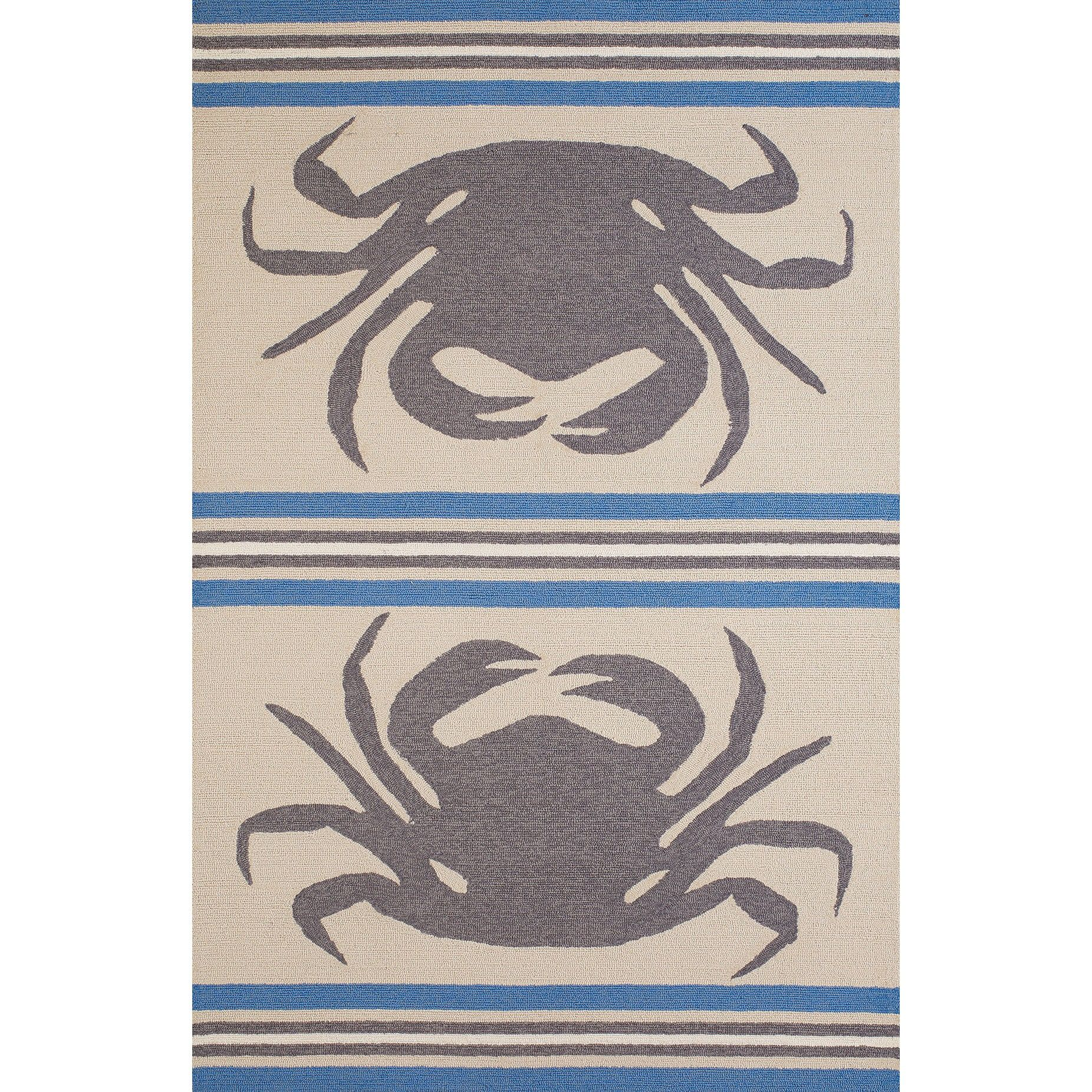 Westfield Home Panama Jack Signature Crab Shack Indoor Outdoor Area Rug 7 6 X 9 Grey Blue Beige Olefin