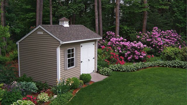 Pin By Lucy Turner On Shed Landscaping Ideas Shed Landscaping Landscaping Around House Backyard Shed