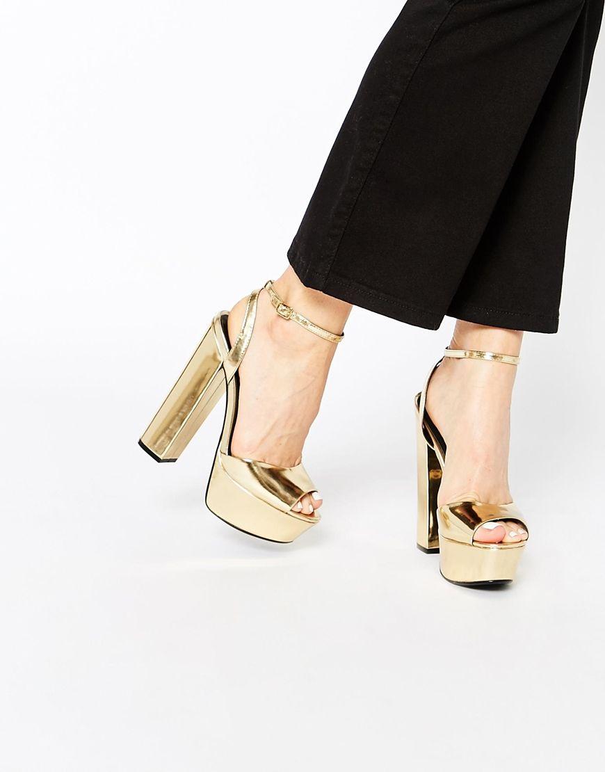 Bettie Gold Flatform Sandals By KG Kurt Geiger 2g6JBrn1
