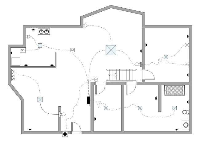 Haushalt Schaltplan Beispiel | Elektrische Schaltpläne Konstruktion ...