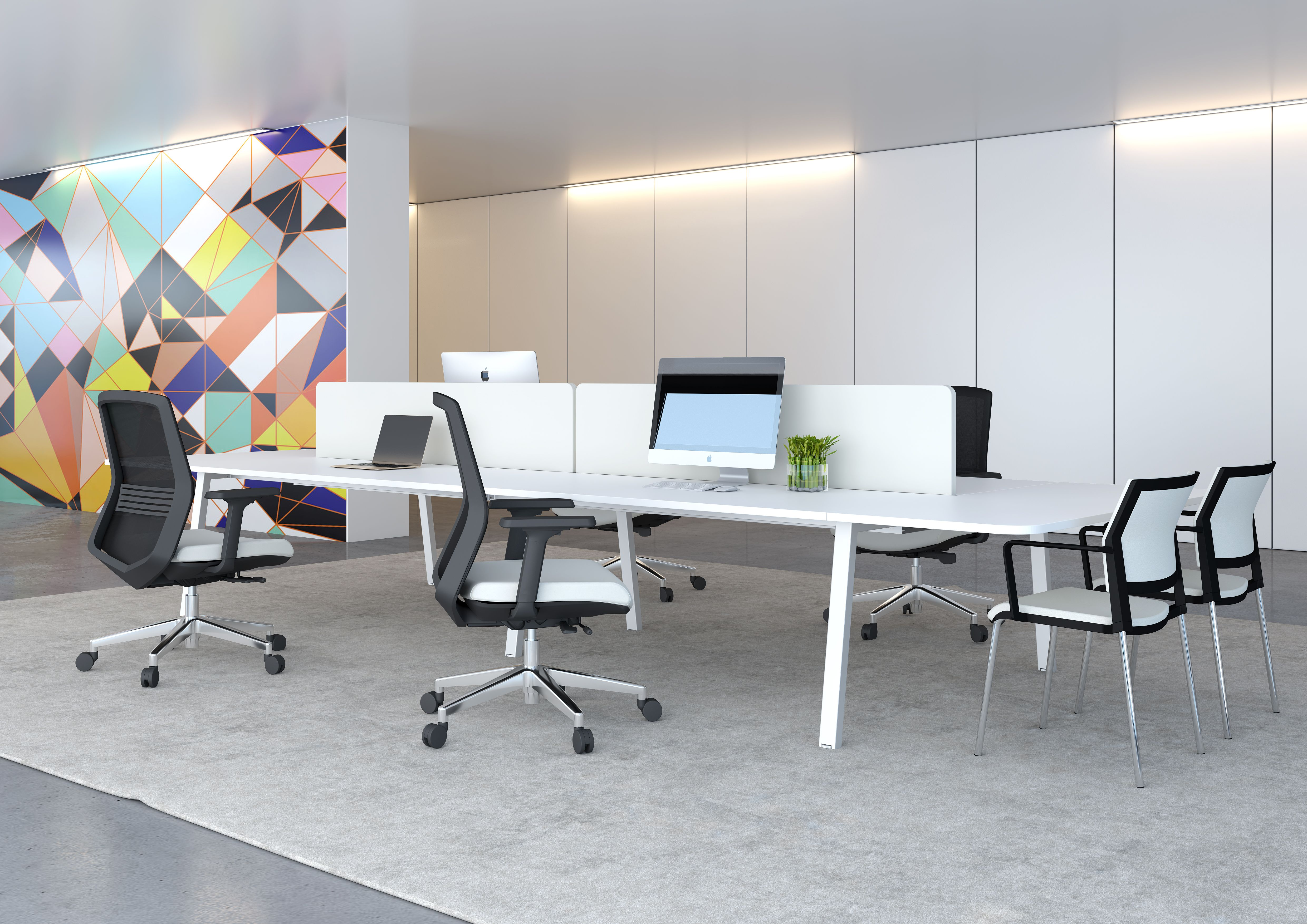 linnea desking with meeting extension by elite office