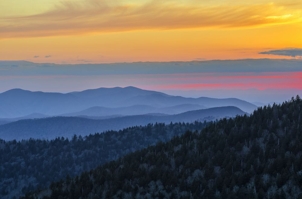 Pleasant Great Smoky Mountains Sunset Just So Beautiful Travel Download Free Architecture Designs Scobabritishbridgeorg