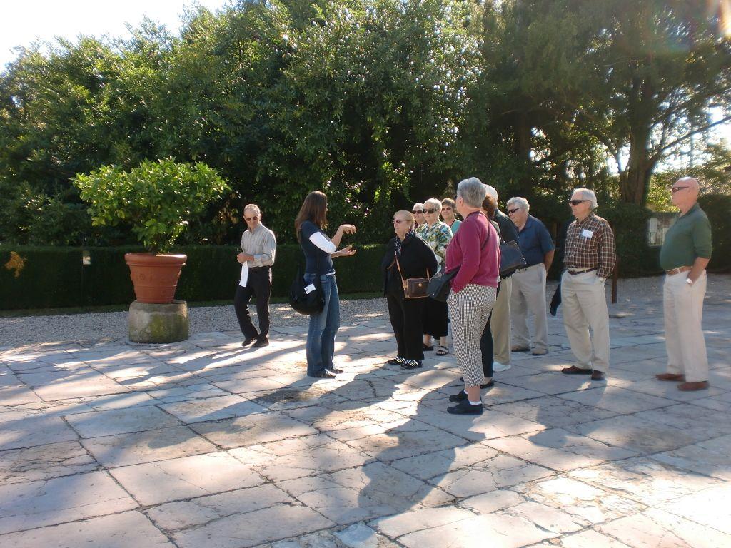 Laura Serafin guided the Sister Cities delegation Treviso Province tour of the City of Treviso, Oderzo, Villa Emo, Villa Maser, Asolo