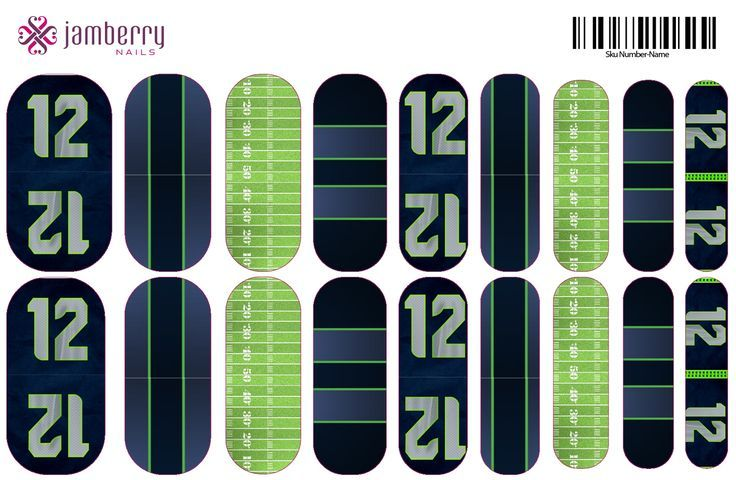 More Jamberry nails! | Seahawks + party! | Pinterest