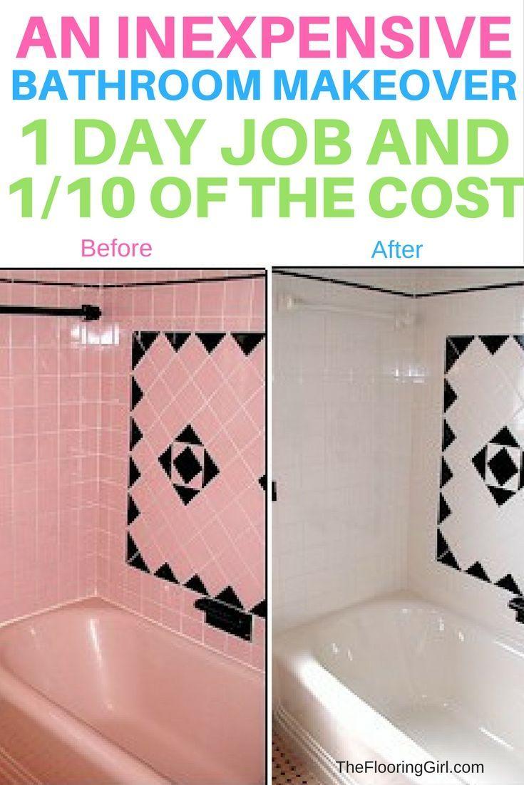 pink bathroom tiles tile reglazing
