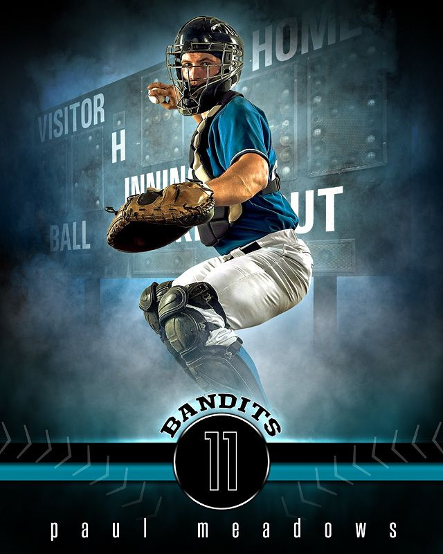 sports poster photo template fantasy baseball sports poster